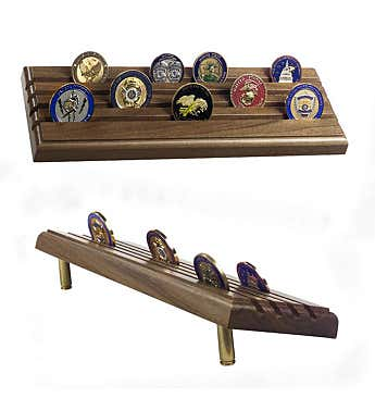 Military Coin Display Rack