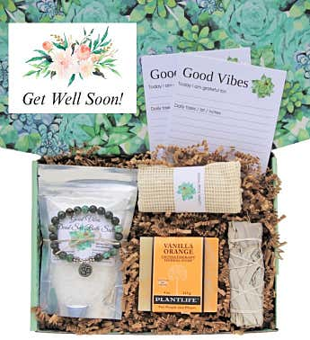"""Get Well Soon"" Good Vibes Women's Gift Box"