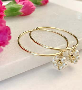14k Gold Filled Brie Hoops