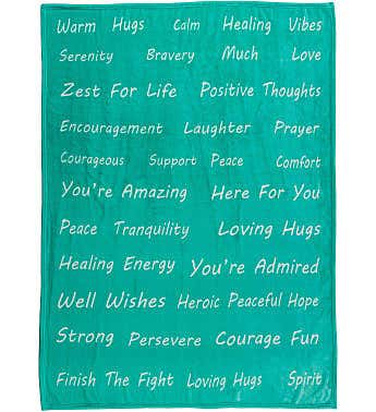 Healing Thoughts Gift Ready Throw Blanket