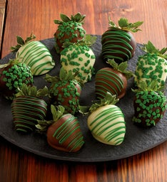 St. Patrick's Day Chocolate-Covered Strawberries