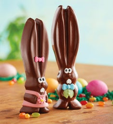 Mr. and Mrs. Ears Milk Chocolate Easter Bunnies