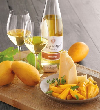 Mango San Joaquin Gold Cheese and Harry  Davidtrade Pinot Gris