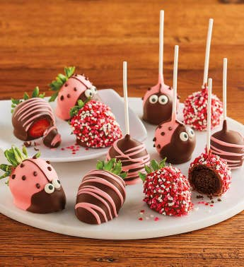 Happy Bug Chocolate-Covered Berries and Cake Pops