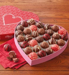 Chocolate Truffles in Valentine's Day Heart Box
