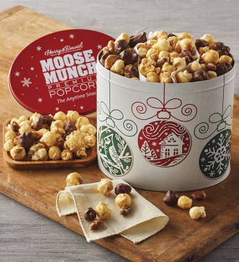 Moose Munch174 Premium Popcorn Mini Holiday Tin