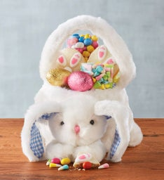Fuzzy Easter Bunny Basket