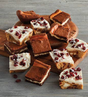 Cream Cheese Brownies and Cranberry Blondies