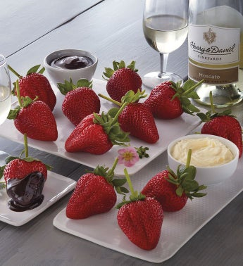 Mother39s Day Strawberries Devonshire Cream and Harry  Davidtrade Moscato