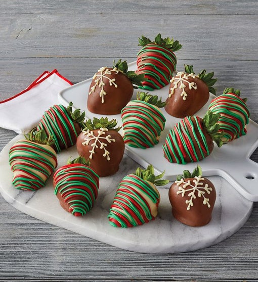 Holiday Chocolate-Covered Strawberries – 12 Count