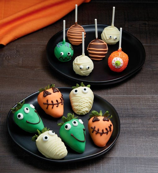 Monster Dipped Strawberries and Cake Pops