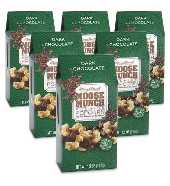 Moose Munch174 Dark Chocolate Premium Popcorn 8211 45 oz 6 Pack