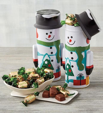 Snowman Tin Duo with Mini Mints