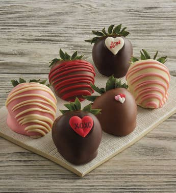 Valentine39s Day Hand-Dipped Chocolate-Covered Strawberries - Half Dozen