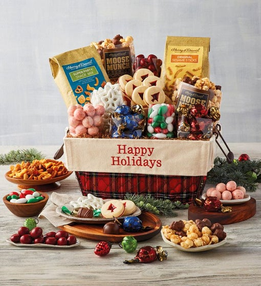Happy Holidays Classic Basket