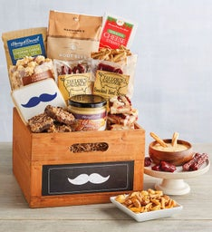 Father's Day Mustache Gift Crate