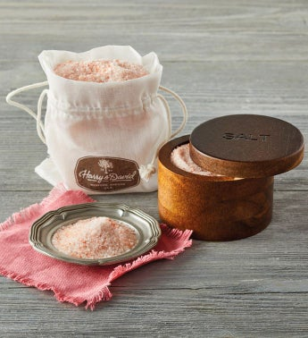 Himalayan Salt with Acacia-Wood Holder