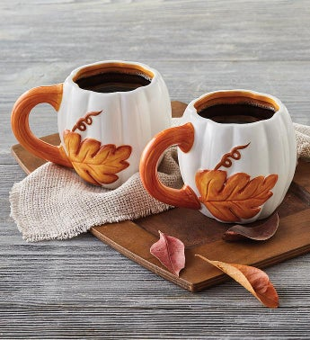 Fall Pumpkin Mug Duo