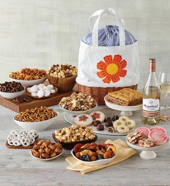 Deluxe Mother39s Day Basket with Wine