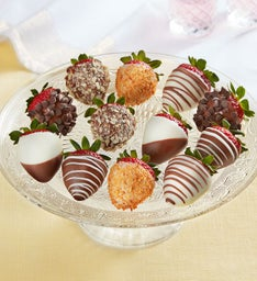 Berrylicious Deluxe Chocolate-Covered Strawberries – 12 Count