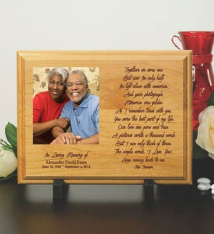 Your Photograph Memorial Wood Plaque