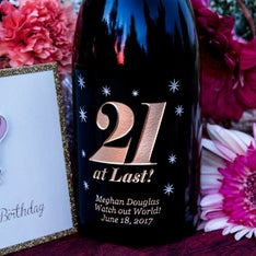 21 at Last! Personalized Wine Bottle