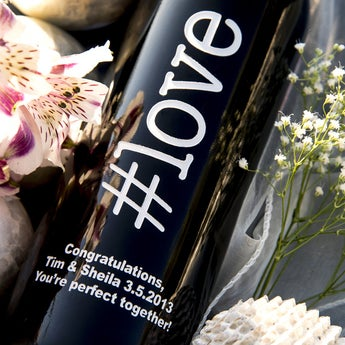 #love Personalized Wine Bottle