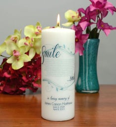Smile Personalized Memorial Candle