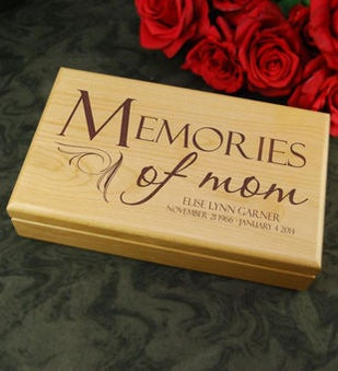 Personalized Memories of Mom Keepsake Box