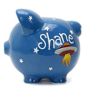 Personalized Hand-Painted Astro Piggy Bank