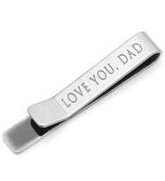 Love You, Dad Hidden Message Tie Bar