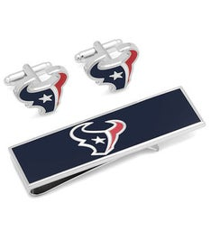 Houston Texans Cufflinks and Money Clip Gift Set