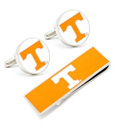 U of Tennessee Volunteers Cufflinks and Money Clip Gift Set
