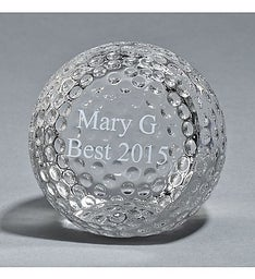 Personalized Golf Ball Paperweight