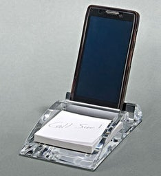 Engraved Phone Stand  Pad Tray