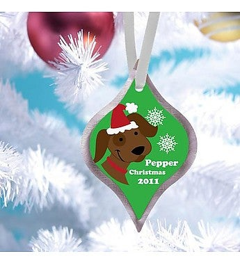 Personalized Elegant Pet Christmas Ornament