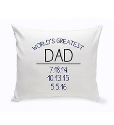 Worlds Greatest Throw Pillow