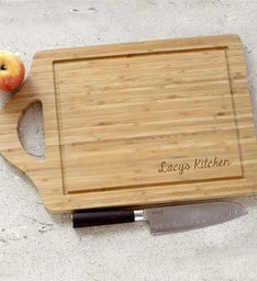 Engraved Family Name Bamboo Carving Board