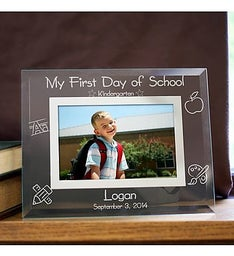 First Day of School Custom Glass Picture Frame