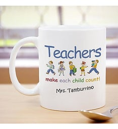 Make Each Child Count Personalized Teacher Coffee Mug