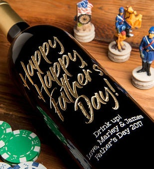 Personalized Happy Happy Fathers Day Wine