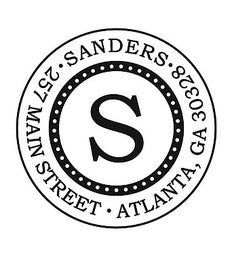 The Sanders Initial Personalized Address Stamp