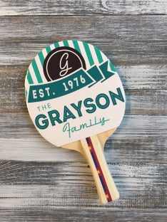 Customized The Grayson Ping Pong Paddle