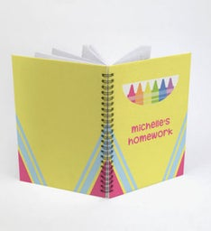 Personalized Crayon Spiral Notebook