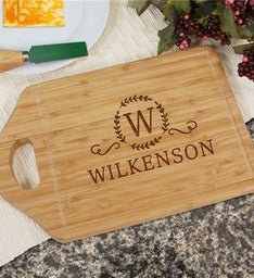 Family Name Engraved Cutting Board