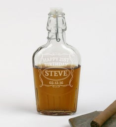 Personalized Birthday Whiskey Flask