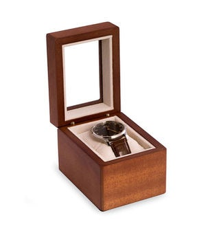 Personalized Cherry Wood Single Watch Box