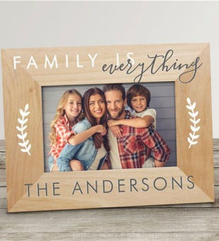 Personalized Family is Everything Wood Picture Frame