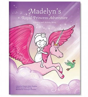My Royal Princess Adventure Custom Coloring Book