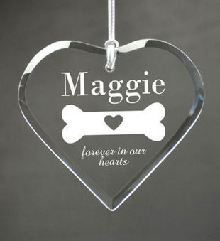 Personalized Loss of Dog Heart Ornament